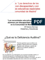 Necesidade Educativas en Los Alumnos Con discapacidad  Auditiva en La Comunidad de Madrid