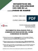 Datos Estadísticos de alumnos con discapacidad y NEE en la Comunidad de Madrid