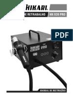 MANUAL ESTACAO RETRABALHO HK-939-PRO