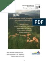 Le développement durable en Équateur  le cas de l'industrie minière à grande échelle