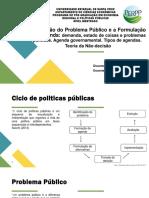 Problema Publico e Agenda pública