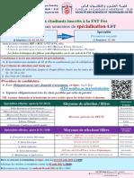 Appel Orientation 3eme Annee LST VF