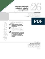 Aula 26 - As teorias e modelos sobre o binômio trabalho e empregabilidade