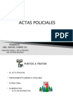 ACTA POLICIAL
