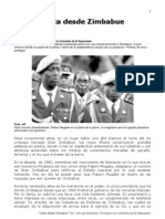 Carta desde Zimbabue