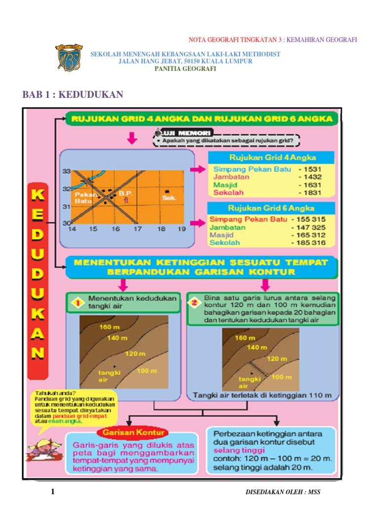 Nota Geog Ting 3 Kemahiran Geografi