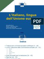 Donatella Bruni REI 2014 Litaliano Lingua DellEuropa