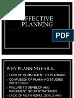 EFFECTIVE PLANNING