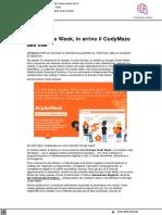 In arrivo il Codeweek di Inaf - Notizie Inaf.it, 14 ottobre 2021