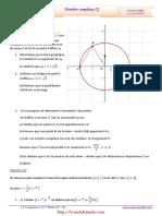 Serie d'exercices Corrigés - Math - Complexes (2) - 4ème Math (2009-2010)