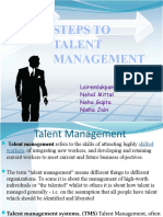 4 steps of talent management