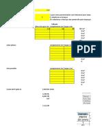 tabela de area contribuição