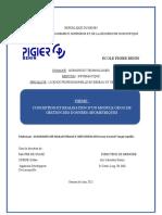 Memoire module de données géographique