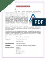 Company Profile- Reliance communication