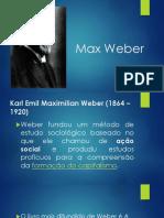 Max Weber - intredoutoriamänty