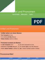 Artikel Und Pronomen