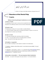 Disorders of the Dental Pulp