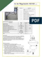 Esquema Armario de regulación AS160 - Mercagas