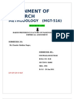 Rr1002b40 Assignment-1 Mgt516 Research Methodology