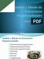 Analisis y Diseño de Estructuras Organizacionales