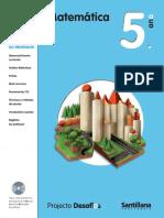 Matemática - Projeto-Desafios5 - Santillana