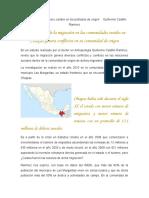 Migración internacional y cambio en los poblados de origen Guillermo Castillo Ramírez