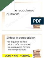6. Tipo de reacciones químicas