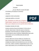 Resumen Histología Integrador
