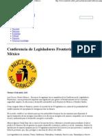 15-04-11 Conferencia de Legisladores Fronterizos, en Nuevo México -monitorbc