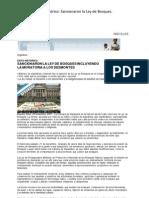 Argentina  Exito histórico Sancionaron la Ley de Bosques