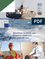 Directives examens médicaux gens de mer