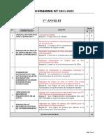 EDHC. PROGRAMME BT 2021-2022. V. 30 SEPT 2021