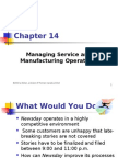 14- Managing Service and Manufacturing Operations