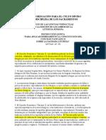 Liturgiam Authenticam Traducción No Oficial