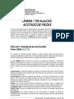 acotacion Autodesk AutoCAD