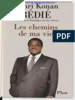 Les chemins de ma vie Henri Konan Bédié pdf