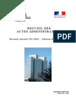 Arrêté de la Préfecture des Alpes-Maritimes du 15 octobre 2021
