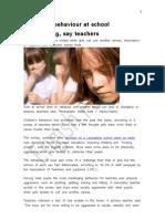 English Forum - 20110418 - Children Behaviour at School - Marcelo