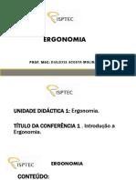Aula 1 Ergonomia (Epi) Isptec Est.