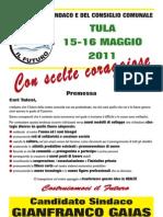 COSTRUIAMOCI IL FUTURO - Programma Elettorale Tula 2011