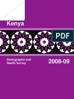 Kenya Demographics and Health Survey Report 2008-09