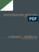 INVESTIGACION APLICADA SESIÓN 05