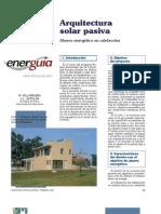 Arquitectura solar pasiva. Ahorro energético en calefacción