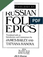 Anthology of Russian Folk Epics