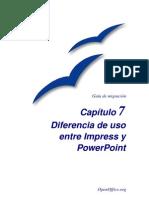 Diferencia de uso entre Impress y PowerPoint