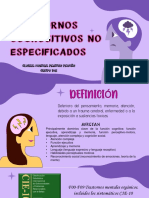 Trastornos Cognositivos No Especificados