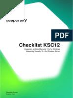 Checklist KSC12