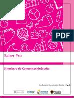 SIMULACRO EXPRESIÓN ESCRITA SABER PRO 2021 PDF