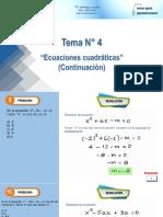 Problemas - Ecuaciones Cuadráticas (Continuación) - Salvador - 5to A