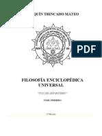 Filosofia Enciclopedica Universal Tomo I